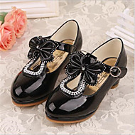 Girls' Shoes Outdoor / Casual Heels Faux Leather Heels Black / White