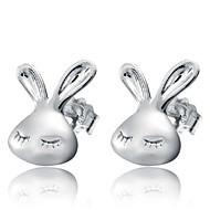 Beszúrós fülbevalók Divat Ezüst Ezüst Ékszerek Mert Esküvő Parti Napi 2pcs