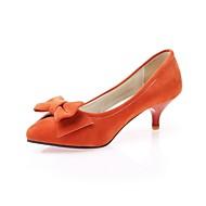 נעלי נשים-בלרינה\עקבים-דמוי עור-עקבים-כחול / אדום / בז' / כתום-שטח / משרד ועבודה / מסיבה וערב-עקב סטילטו