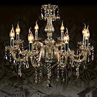 Ecolight™ 110V OR 220V 8 Lights Luxury Crystal Chandelier/Cognac Color/K9 Crystal Chandeliers Living Room / Bedroom
