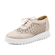 Women's Shoes  Wedge Heel Wedges / Fashion Boots / Round Toe Fashion Sneakers Outdoor Black / Red/ Almond