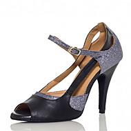 Sapatos de Dança ( Prateado ) - Feminino - Personalizável - Latina / Salsa / Samba