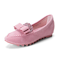 Women's Shoes Suede Flat Heel Moccasin / Pointed Toe / Closed Toe Flats Dress / Casual Black / Blue / Pink / Purple