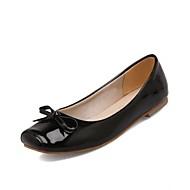 נעלי נשים - שטוחות - דמוי עור - נוחות / מרובע - שחור / אדום / לבן - משרד ועבודה / שמלה / קז'ואל / מסיבה וערב - עקב שטוח