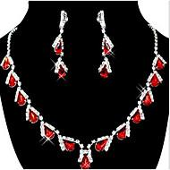 Party-Damen-Halskette / Ohrring(Zirkonia)