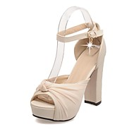 נעלי נשים - סנדלים - חומרים בהתאמה אישית - עקבים - שחור / ורוד / לבן - חתונה / משרד ועבודה / שמלה / מסיבה וערב - עקב עבה