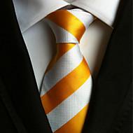 עניבה - פסים ( לבן / צהוב , פוליאסטר )