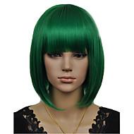 Nowo przybyły bobo cosplay styl zielony krótkie proste syntetycznej peruce