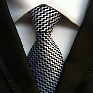 Pruhy - Kravata ( Černá / Bílá , Polyester )