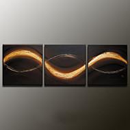 Handgeschilderde Abstracte landschappenModern Drie panelen Canvas Hang-geschilderd olieverfschilderij For Huisdecoratie