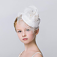 Flower Girl's Rhinestone / Crystal / Flax / Net Headpiece - Wedding / Special Occasion / Outdoor Fascinators