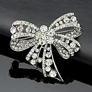 Women's Crystal Cute Bowknot Brooch for Wedding Party Decoration Scarf ,Fine Jewelry