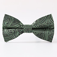 עניבת פרפר - דוגמא (ירוק , פוליאסטר)