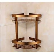 Polička do koupelny / Vintage bronz / Na ze´dHliník /Neoklasicistní /23CM 21CM 1.2KG