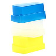 ニコンSB800 / SB600 YN-460 YN-465 YN-467 YN-468用の青+黄色+白の新しいシリコン柔軟なフラッシュバウンスディフューザーソフトボックス