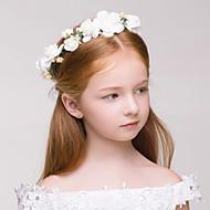 Menina das Flores Tecido Plástico Capacete-Casamento Ocasião Especial Ao ar Livre Grinaldas 1 Peça