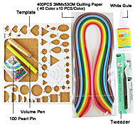 400pcs Quilling de papel kit de la decoración del arte del arte de DIY / set 7pcs