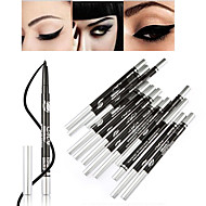 New Black Waterproof Makeup Cosmetic Liquid Eye Liner Pencil Eyeliner Pen-12Pcs