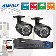 annke® sistema de 4 canales 960H 720p red 1200tvl CCTV DVR de vigilancia de vídeo de cámaras de seguridad