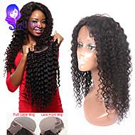 """8 """"-24"""" brasilianisches reines Haar lockiges Spitzefrontseitenperücke für schwarze Frauen gueless Spitzefrontmenschenhaarperücken"""