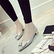 Women's Shoes  Chunky Heel Heels / Pointed Toe / Closed Toe Heels Dress Black / Red / Gray
