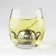 teekannu muoto teetä siivilä teetä infuser mini levy ruostumatonta terästä