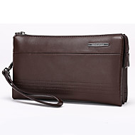 VUITTON Men PU Knucklebox Clutch / Wallet - Brown / Black