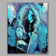 lyse farger naken jente fin vegg kunst olje maleri strukket
