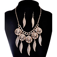 MPL Europe and the United States and the leaves of fashion style necklace earrings set