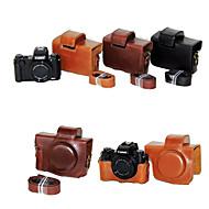 dengpin pu bolsa de cuero de la cubierta caja de la cámara con la correa de hombro para Canon Powershot G5 x (colores surtidos)