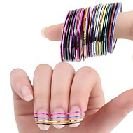 Sažetak - 3D Nail Naljepnice / Folija Stripping Tape / Ostale dekoracije - za Prst / nožni prst - 4.5*4.5*3 - 10Pcs/Set kom. - Other
