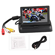 """4.3 """"Inch Car Tft Color Monitor For Dvd Foldable Rear View Camera"""