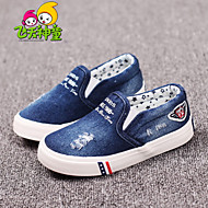 Boy's / Girl's Spring / Summer / Fall Comfort / Round Toe Denim Outdoor / Casual / Athletic Flat Heel Others / Split Joint Blue