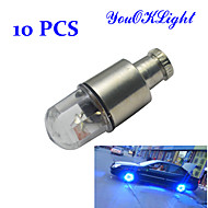 YouOKLight® 0.5W 30-50lm Super Bright Blue Flashing LED Tire Light (10 PCS)