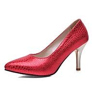 נעלי נשים-בלרינה\עקבים-דמוי עור-עקבים-שחור / כחול / אדום / זהב-חתונה / משרד ועבודה / מסיבה וערב-עקב סטילטו