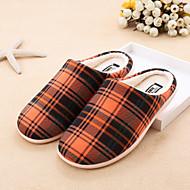 Women's Closed Toe / Slippers Fabric Casual Flat Heel Multi-color