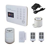 sistema de alarma de su casa GSM 120 zonas inalámbricas con llamada de voz SMS lcd, móvil ios android aplicación de seguridad de la casa