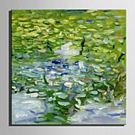 dibujar la mini pintura al óleo del tamaño de correo hogar moderno paisaje abstracto estanque mano pura pintura decorativa sin marco