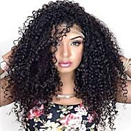 kvinder blonder foran paryk 10inch ~ 24inch indien hårfarve (# 1 # 1b # 2 # 4) dybe bølge hår