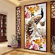 DIY 5D Round Diamond Painting Cross Stitch Kit Rich flowers Peacocks Peony Painting Diamonds Embroidery Home Decoration