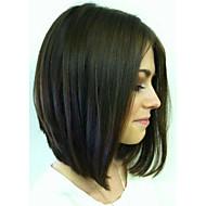 sin cola 8a asequibles o pelucas llenas del cordón de la luz natural, yaki longitud corta bob remy indio del pelo humano pelucas