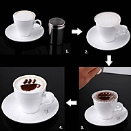 8pcs jul kaffe stencil cappuccino chokolade cookies kager stencils mug