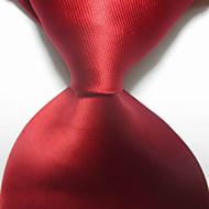 Crveni tamnocrveni vuneni kravatski muški kravata