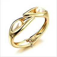 Bracciali Per donna Manette Perle / Placcato in oro 18k Perle