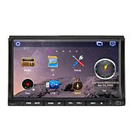 Pantalla TFT de 2 din 7 pulgadas reproductor de DVD del coche en el tablero, Bluetooth, GPS-navegación listo, ipod-entrada, RDS