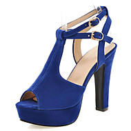 Women's Shoes Chunky Heel Platform/Sling back/Open Toe Sandals Party & Evening/Dress Black/Blue/Red/Beige