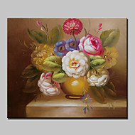 Mini Size Hand-Painted Classic Flower Oil Painting On Canvas With Frame For Living Room Home Decor 20x25cm