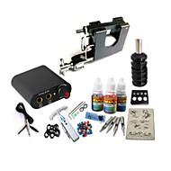 basekey tattoo kit jh559 1 pyörivä kone virtalähde kahvat 3x10ml muste