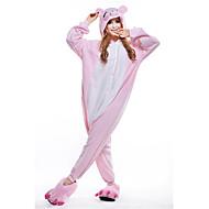 Kigurumi Pijamale noul Cosplay® Purcel / Porc Leotard/Onesie Festival/Sărbătoare Sleepwear Pentru Animale Halloween Roz Peteci Lână polară