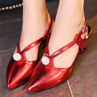 Women's Shoes Kitten Heel Heels/Sling back/Pointed Toe Heels Office & Career/Party & Evening/Dress Green/Pink/Red /